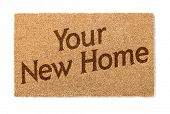 Your New Home Welcome Mat Isolated On A White Background. poster