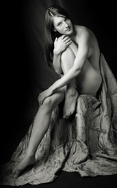 picture of striper  - Sitting beautiful naked girl  - JPG