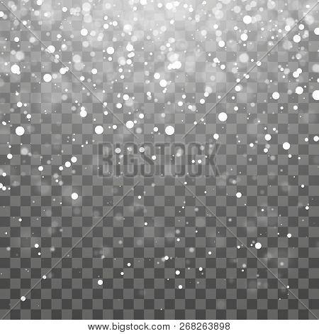 Christmas Snow Falling Snowflakes On