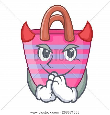 Devil Beach Bag Cartoon On