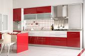 foto of kitchen appliance  - an image of Modern Kitchen drawers and Granite Countertop - JPG
