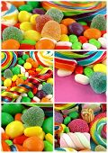 Candy Sweet Lolly Sugary Collage Delicious Photo poster
