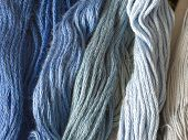 blue yarns