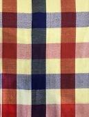 Colorful Traditional Thai Cultural Handmade Fabric: Loincloth (commer Band, Kamar Band), Checker Pla poster