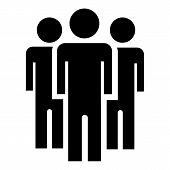 People Peace Group Icon. Simple Illustration Of People Peace Group Vector Icon For Web Design Isolat poster