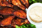 stock photo of chicken wings  - Chicken wings - JPG