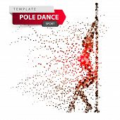 Pole Dance, Exotic, Striptease - Dot Illustration Vector Eps 10 poster