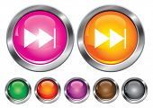 Vector collection icons with forward sign, empty button included
