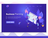 Isometric Design User Interface, Web Design, Landing Page. The Concept Of The Work Of Isometric Peop poster