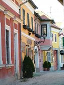 Colourful Houses In Szentendre Hungary