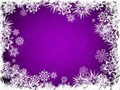 A Snowflake Bordered Design Back Drop In Purple