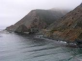 image of bixby  - fog along the coast near big sur - JPG