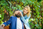 Park Best Place For Romantic Date. Surprise For Him. Couple In Love Romantic Date Nature Park Backgr poster