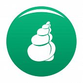 Twisted Shell Icon. Simple Illustration Of Twisted Shell Vector Icon For Any Design Green poster