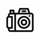 Photo Camera Icon Isolated On White Background. Photo Camera Icon In Trendy Design Style. Photo Came poster