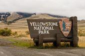 Yellowstone National Park Gate Sign, Montana