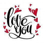 Valentine S Day Creative Artistic Hand Drawn Card. Vector Illustration. Wedding, Love, Romantic Temp poster