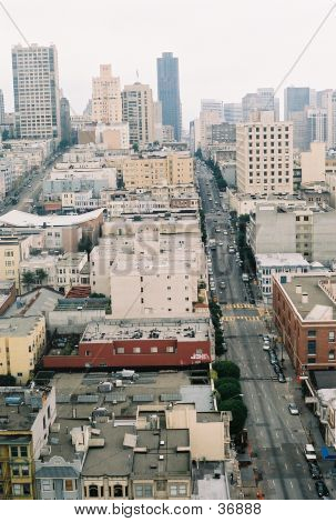 poster of San Francisco City Scape