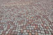 image of porphyry  - Stone floor pavement useful as a background - JPG