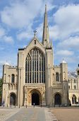 Front of Norwich Cathedral