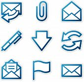E-Mail Icons, Blue Contour Series