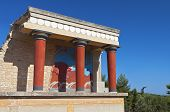Knossos palace at Crete island in Greece.