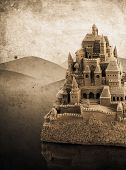 Large Retro Sandcastle