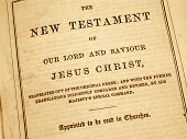 The New Testament In An Antique Bible Printed In 1882.