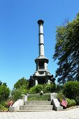 Soldiers monument at the Battle Hill at the Green-Wood cemetery in Brooklyn