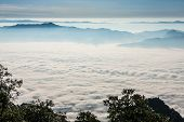 Sunrise View Point From Doi Chiang Dao Mountain