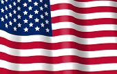 USA Flag vector 3d. American Symbol. 4th July. United States of America Independence Day background.
