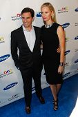 NEW YORK-MAY 29: Model Karolina Kurkova and husband Archie Drury attend the Samsung Hope for Children gala at Cipriani Wall Street on June 11, 2013 in New York City.