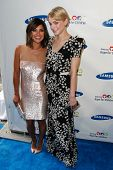 NEW YORK-MAY 29: Actress Jessica Szohr (L) and model Jessica Stam attend the Samsung Hope for Childr