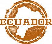 Vintage Ecuador South America Country Stamp