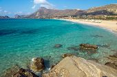 Lovely beach on Crete island