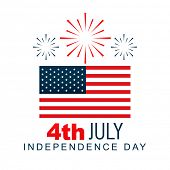 american 4th of july vector design