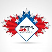 vector american independence day design