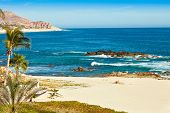 picture of cortez  - Beautiful beach in Cabo San Lucas Mexico overlooking the Sea of Cortez - JPG