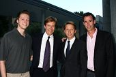 LOS ANGELES - JUN 15:  Harrison Wagner, Jack Wagner, Brad Bell, Michael Minnis attend The LLS 2013 G