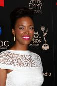 LOS ANGELES - JUN 16:  Aisha Tyler arrives at the 40th Daytime Emmy Awards at the Skirball Cultural Center on June 16, 2013 in Los Angeles, CA