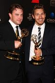 LOS ANGELES - JUN 16:  Billy Miller, Scott Clifton in the press area at the 40th Daytime Emmy Awards