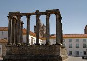 The Temple Of Diana In Evora, A City Which Is A Unesco World Heritage Site, In Portugal