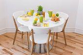 Elegant Table With Tasty Breakfast