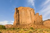 The Butte Is A Giant Sandstone Formation In The Monument Valley Made Of Sandstone