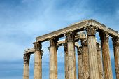 Temple of Olympian Zeus , Athens , Greece .