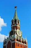 stock photo of chimes  - the Moscow Kremlin chiming clock of the Spasskaya Tower - JPG