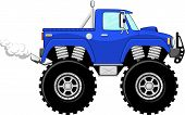 dibujos animados de Monstertruck 4 x 4
