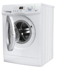 stock photo of washing machine  - Isolated washing machine on a white background - JPG