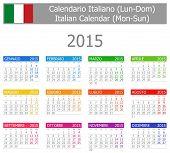 2015 Italian Type-1 Calendar Mon-Sun