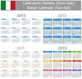 2015 Italian Mix Calendar Sun-Sat